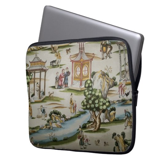 Vintage China Toile Scene Laptop Sleeve
