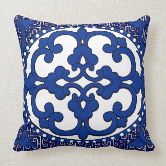 Vintage China Version I in Blue Cushion