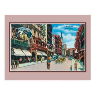 Vintage Chinatown New York City Postcard