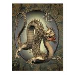 Vintage Chinese Dragon 2012 Calendar Postcards