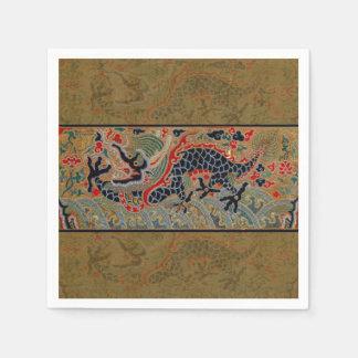 Vintage Chinese Dragon Art Tapestry Artwork Disposable Serviette
