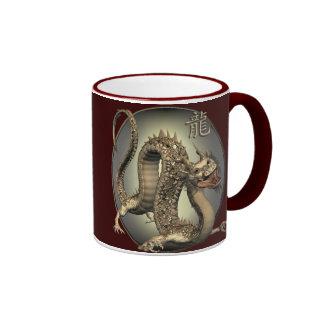 Vintage Chinese Dragon Ringer Mug