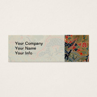 Vintage Chinese Dragon Symbol of Strength Mini Business Card