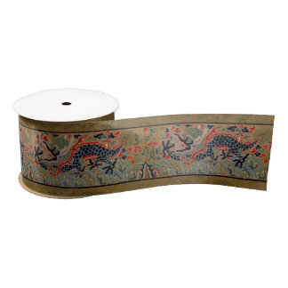 Vintage Chinese Dragon Symbol of Strength Satin Ribbon