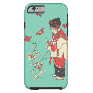 Vintage Chinese Girl Butterfly Blossoms Phone Case