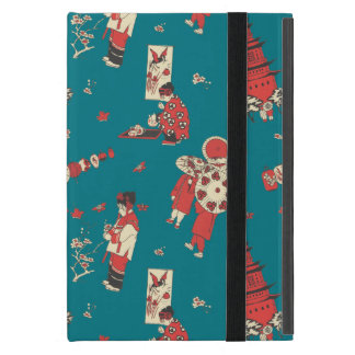 Vintage Chinese Girls Illustration iPad Mini Case