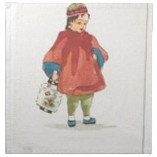 Vintage Chinese Illustration Napkin
