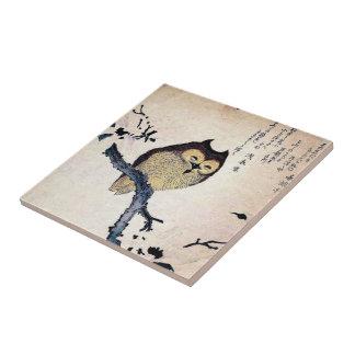 Vintage Chinese Owl Tile - Trivet