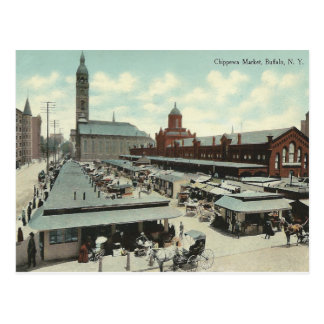 Vintage Chippewa Market, Buffalo, New York Postcard