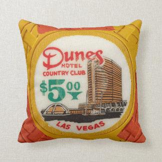 Vintage Chips Poker Party Las Vegas Mancave Decor Cushion
