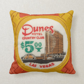 Vintage Chips Poker Party Las Vegas Mancave Decor Throw Pillow