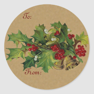Vintage Chistmas Gift sticker