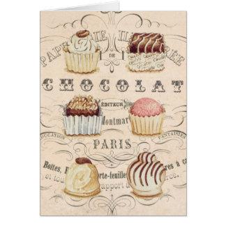 Vintage Chocolat...notecard Card