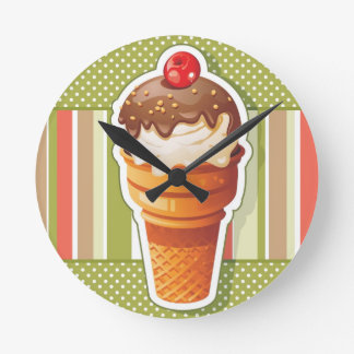 Vintage Chocolate ice cream Wallclocks