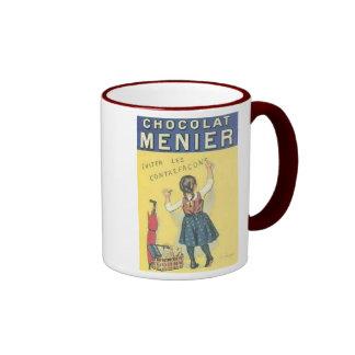 Vintage Chocolate Menier Ad Ringer Mug