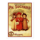 Vintage Chocolate Ph. Suchard Ad Postcard