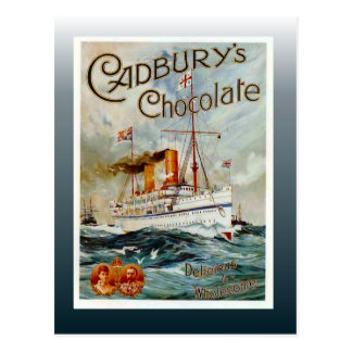 Vintage chocolate poster, Cadbury's Chocolate Postcard