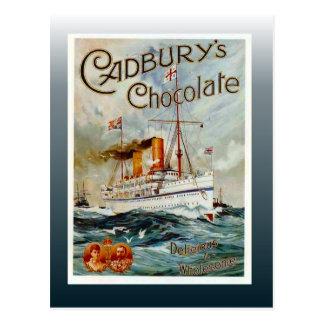 Vintage chocolate poster, Cadbury's Chocolate Postcard