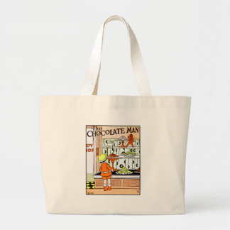Vintage Chocolate Shop Candy Store Goodies Jumbo Tote Bag