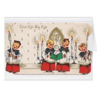 Vintage Choir Boys Christmas Card