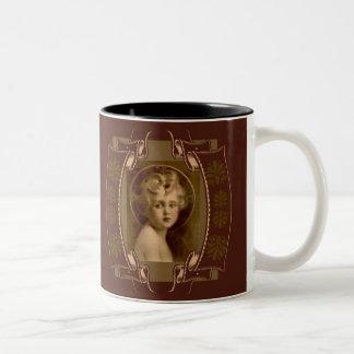 Vintage Christ Child Jesus The Light of the World Two-Tone Coffee Mug