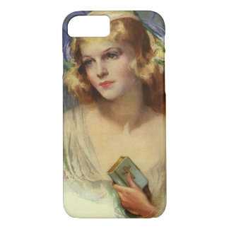 Vintage Christianity Religion, Bride with Bible iPhone 7 Case