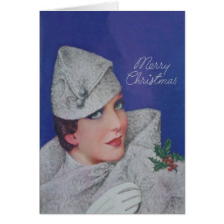 Vintage Christmas 1933 Greeting Card