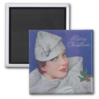 Vintage Christmas 1933 Fridge Magnets