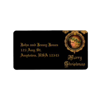 Vintage Christmas Angel Address Label
