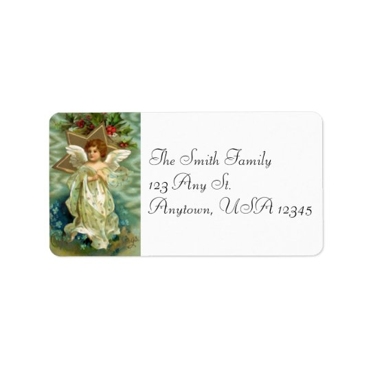Vintage Christmas Angel Address Labels