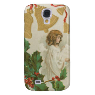 Vintage Christmas Angel Bells and Holly Samsung Galaxy S4 Covers