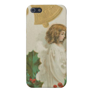 Vintage Christmas Angel Bells and Holly Cases For iPhone 5
