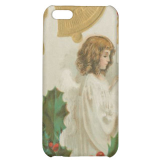 Vintage Christmas Angel Bells and Holly iPhone 5C Case