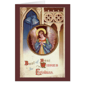 Vintage Christmas Angel Card
