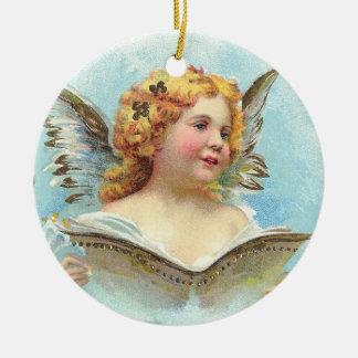 Vintage Christmas Angel Ceramic Ornament
