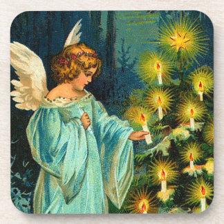 Vintage Christmas Angel Coaster