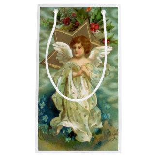 Vintage Christmas Angel Small Gift Bag