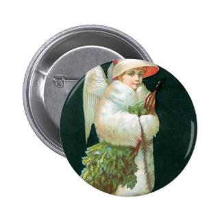Vintage Christmas Angel Girl Buttons