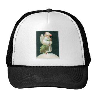Vintage Christmas Angel Girl Trucker Hats