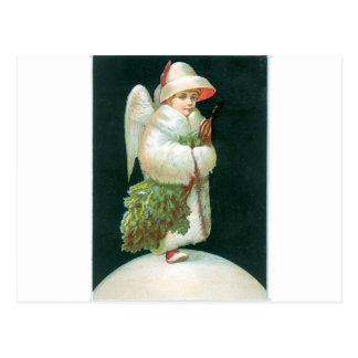 Vintage Christmas Angel Girl Postcard