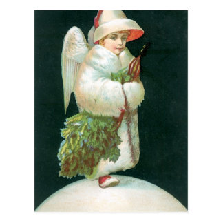 Vintage Christmas Angel Girl Postcard