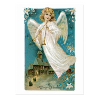 Vintage Christmas Angel Image Postcard