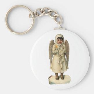 Vintage Christmas Angel Keychain