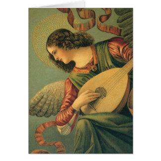 Vintage Christmas, Angel Musician Melozzo da Forli Card