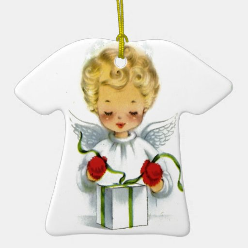 Vintage Christmas Angel Wrapping Gift Christmas Ornaments