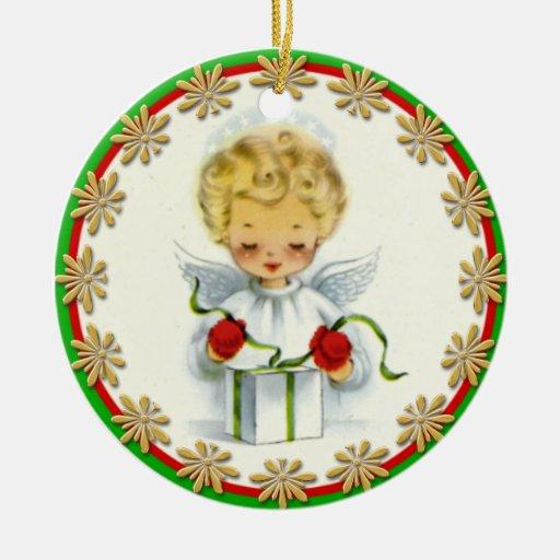 Vintage Christmas Angel Wrapping Gift Christmas Tree Ornament