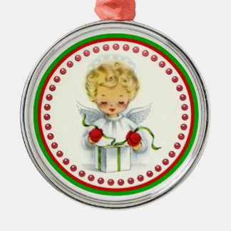 Vintage Christmas Angel Wrapping Gift Ornament
