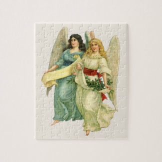 Vintage Christmas, Angelic Victorian Angels Jigsaw Puzzle