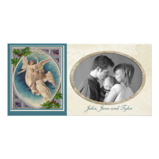 Vintage Christmas Angels Customized Photo Card
