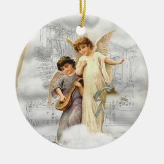 Vintage Christmas Angels Ornament